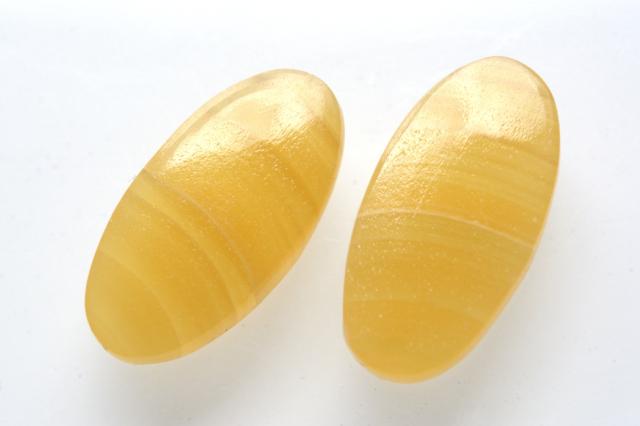 イエローアゲート【5】天然石ルース・カボション (20×15mm)