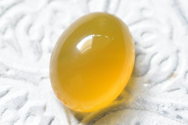 イエローアゲート【15】天然石ルース・カボション (20×15.5mm)