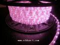13mm2芯、LEDロープ(チューブ)ライト、ライトピンク、50m