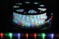 13mm2芯、LEDロープ(チューブ)ライト、ミックス(赤、黄、ブルー、グリーン)、50m