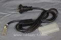 13mm2芯、LEDロープ(チューブ)ライト用電源コード、1.5m、固定タイプ