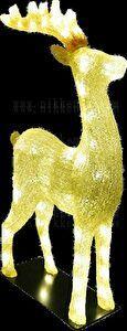LEDトナカイ ゴールド 16×51×H81cm