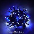 ☆防滴・常時点灯 2芯LED100球ストレート ブルー&ホワイト クロスライセンスLED仕様☆