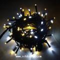 ☆防滴・常時点灯 2芯LED100球ストレート シャンパンゴールド&ホワイト クロスライセンスLED仕様☆