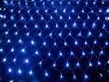 横幅240cm LEDネットライト 180球 ブルー クリアコード