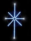 幅63cm×縦123cm LED ツインクル2D八角星 ホワイト