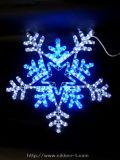 W63cm×H55cm LEDスノーフレーク 白&青色 点滅可
