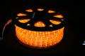 13mm2芯、LEDロープ(チューブ)ライト、オレンジ(アンバー)、50m