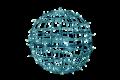 65φ パステルブルー常点  LEDフレームボール 大型