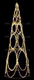 LEDリングコーン シャンパンゴールド色 高さ185cm