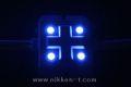 LEDモジュール、SMD5050型、4球x30モジュール、ブルー、電源別売り