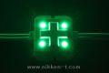 LEDモジュール、SMD5050型、4球x30モジュール、グリーン、電源別売り