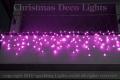 「プロ仕様」LEDイルミネーション、アイシクル(ツララ)、常点、プロ仕様(V4)、140球、ピンク