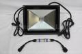 DMX対応 COB型RGB LEDウオールウオッシャー R2.1、矩形、黒筐体、AC100V、1灯、30W IP65 ※アドレスセッター別売り