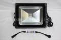 DMX対応 COB型RGB LEDウオールウオッシャー R2.1、矩形、黒筐体、AC100V、1灯、60W IP65 ※アドレスセッター別売り