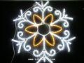 W100cm×H100cm LED BIGロープライトスノーフレーク 10型 ホワイト&シャンパンゴールド※取寄せ品