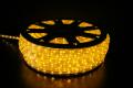 13mm2芯、LEDロープ(チューブ)ライト、イエロー、50m