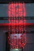 LEDウオーターフォールカーテン(ナイアガラ)、上下方向点滅、プロ仕様(V4)、256球、レッド