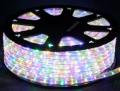 13mm2芯、LEDロープ(チューブ)ライト、ミックス(電球色、ピンク、ブルー、グリーン)、50m