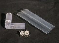 10mm、2芯、ロープ(チューブ)ライト、L型コネクタ、固定タイプ