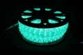 13mm2芯、LEDロープ(チューブ)ライト、グリーン、50m