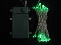 ■乾電池式、LEDストリングライト(ストレート) 、クリアコード、50球、グリーン