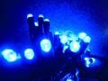☆防滴・常時点灯 2芯LED100球ストレート ブルー クロスライセンスLED仕様☆