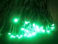☆防滴・常時点灯 2芯LED100球ストレート グリーン クロスライセンスLED仕様☆