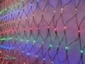 ※処分品※ LEDネットライト、マルチ(青、緑、赤、黄) LED180球、縦1mx横2m、連結可 防滴仕様