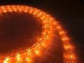 10mm2芯、LEDロープ(チューブ)ライト、オレンジ(アンバー)、10m