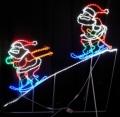 LED2人スキーサンタ