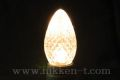 C7型LED電球、E12ソケット用、電球色25球 (ソケット付コード別売り)