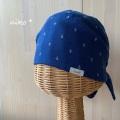 リバーシブルバンダナ帽子(イカリx水玉)医療用帽子