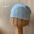 ヒッコリー調ブルーストライプ・夏向け可愛い医療用帽子