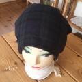 ガーゼキャップ(ブラックウォッチ)・夏向け涼しい医療用帽子