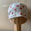 ガーゼキャップ(ドットピンク)・夏向け涼しい医療用帽子