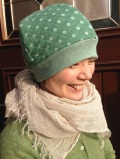 ほんわかキルトニット帽(グリーン)