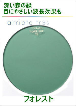 アリアーテトレスのレンズカラー(フォレスト)グリーン系のサングラスカラー