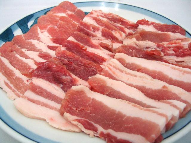 豚肉バラ厚切り(京丹波高原豚) 100g単位