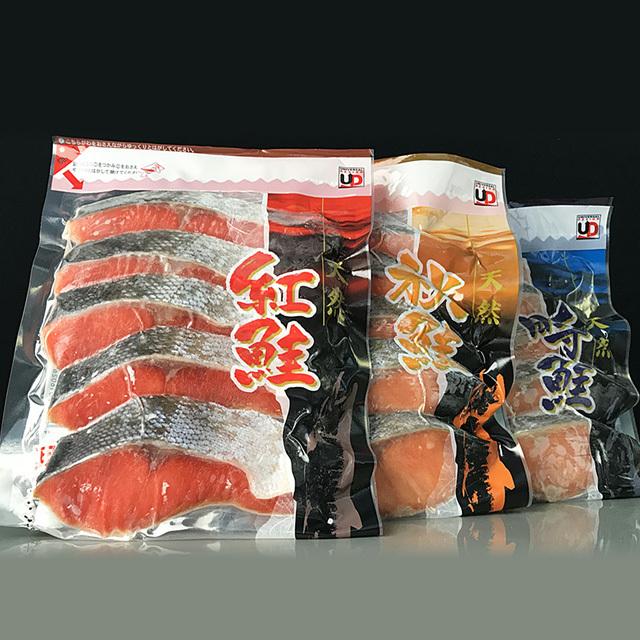 根室商業協同組合 天然鮭切り身3種セット