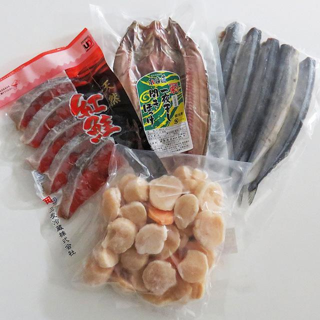 タイエーほたて貝柱とお魚3種おすすめセット
