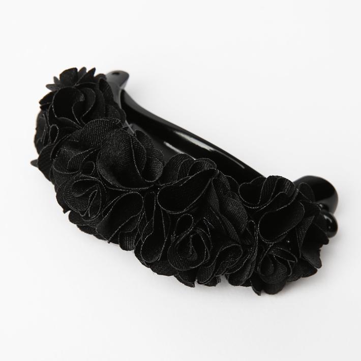 ヘアクリップ BH-001CL ヘアアクセサリー ブラック 黒 フラワー 可愛い 髪飾り レディース 女性用 華やか ゆうパケット対応
