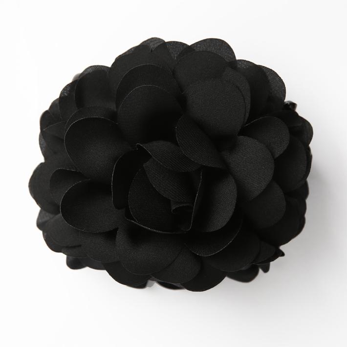 ヘアクリップ BH-003CL ヘアアクセサリー ブラック 黒 フラワー 可愛い 髪飾り レディース 女性用 華やか