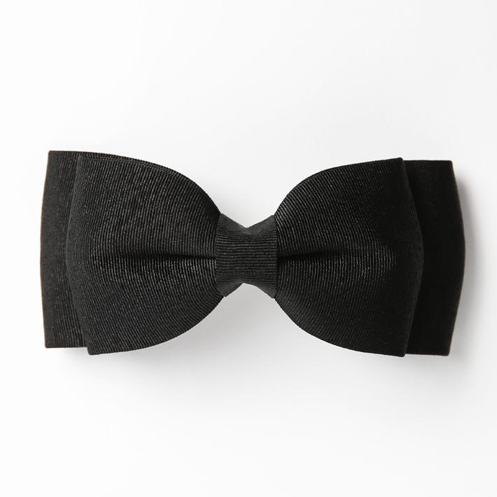 バレッタ BH-004BA ヘアアクセサリー ブラック 黒 リボン 可愛い 髪飾り レディース 女性用 華やか