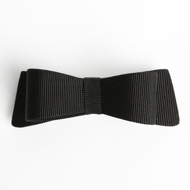 バレッタ BH-001BA ヘアアクセサリー ブラック 黒 リボン 可愛い 髪飾り レディース 女性用 華やか