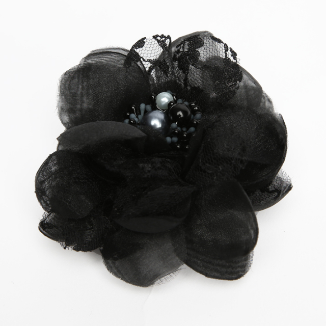 コサージュ BH-004CO ヘアアクセサリー ブラック 黒 フラワー レース 可愛い 髪飾り レディース 女性用 華やか