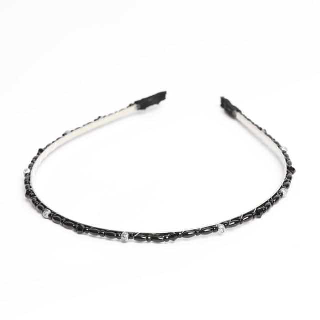 カチューシャ BH-007KA ヘアアクセサリー ブラック 黒 可愛い 髪飾り レディース 女性用 華やか ゆうパケット対応
