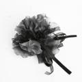 【あす着対応】お宮参り コサージュ BH-002CO ヘアアクセサリー ブラック 黒 フラワー レース 可愛い 髪飾り レディース 女性用 華やか