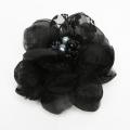 【あす着対応】お宮参り コサージュ BH-004CO ヘアアクセサリー ブラック 黒 フラワー レース 可愛い 髪飾り レディース 女性用 華やか