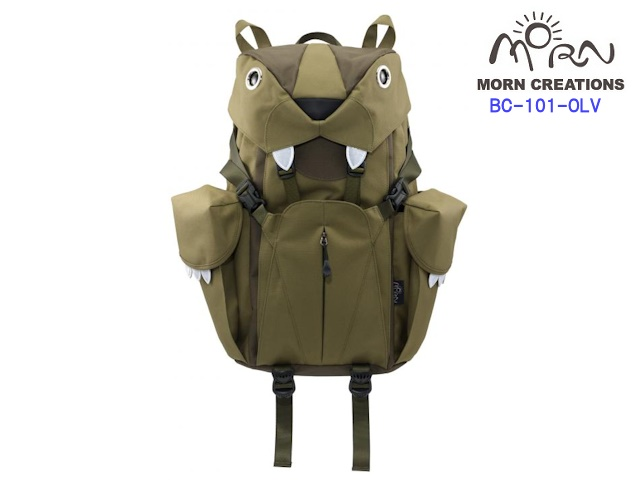 MORN CREATIONS/モーンクリエイションズのビッグキャットバックパック(L) OLV